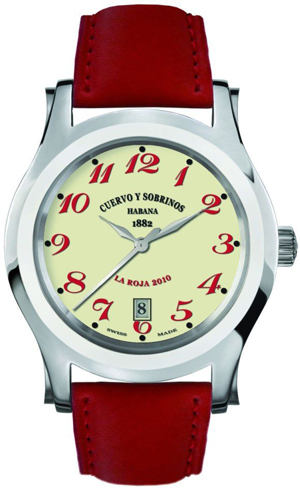 Cuervo y Sobrinos Robusto Series La Roja Limited Edition Watch
