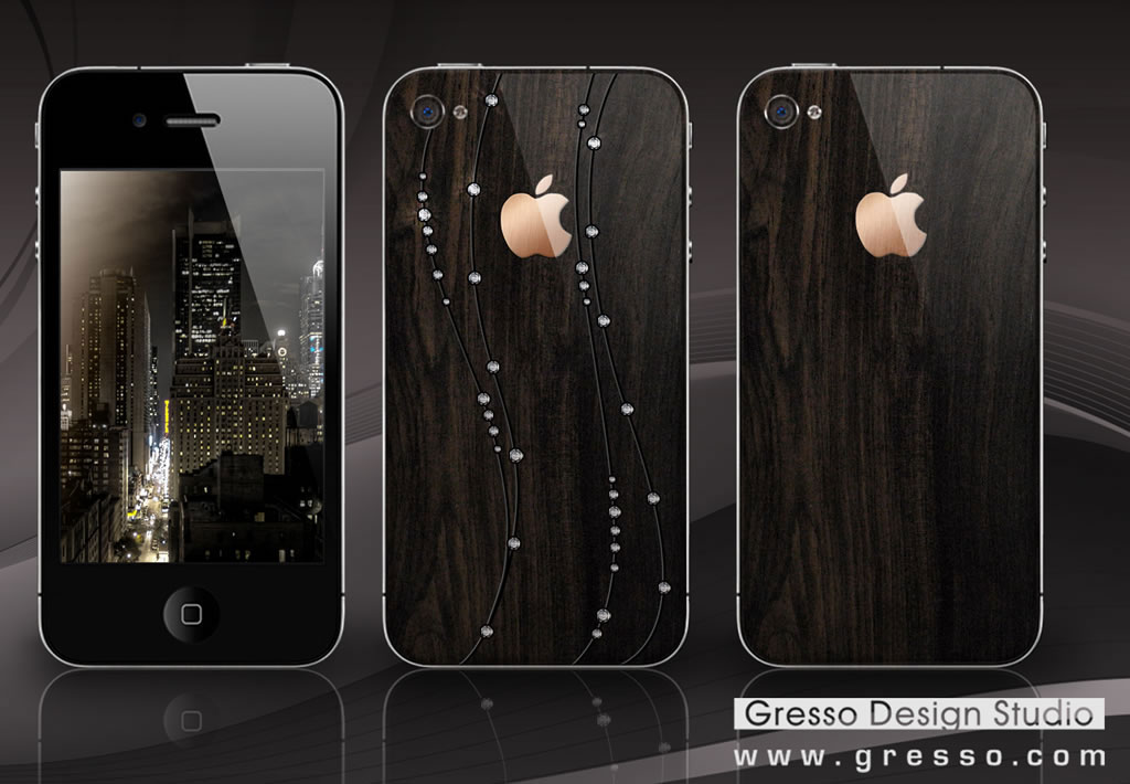iPhone 4 in African Blackwood from Gresso