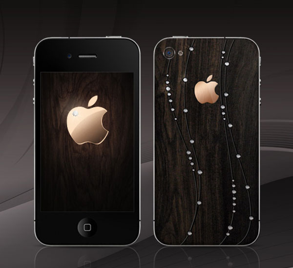 Apple iPhone 4 – 18carat Limited Edition African Blackwood from Gresso