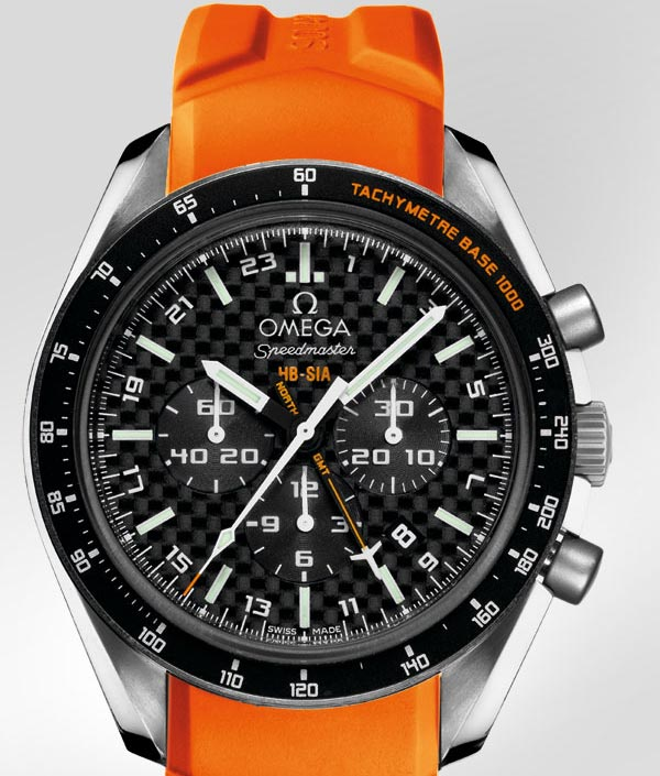 Omega Speedmaster HB-SIA Co-Axial GMT Chronograph - Titanium on Rubber Strap