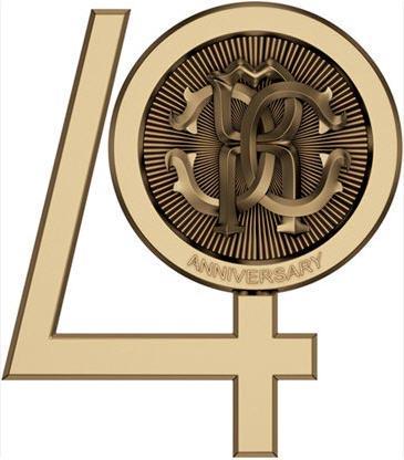 roberto cavalli 40 anniversary logo