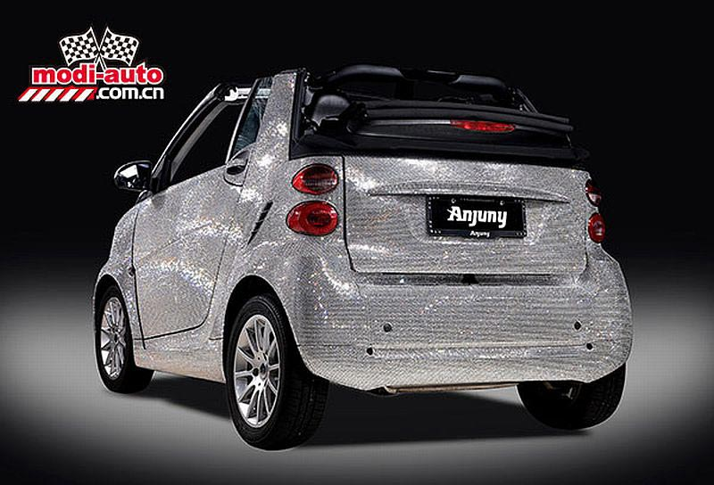 Anjuny's Swarovski crystal covered Smart convertible