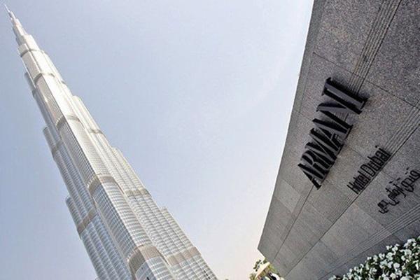 Technogym equips armani hotel dubai extravaganzi Armani hotel in burj khalifa