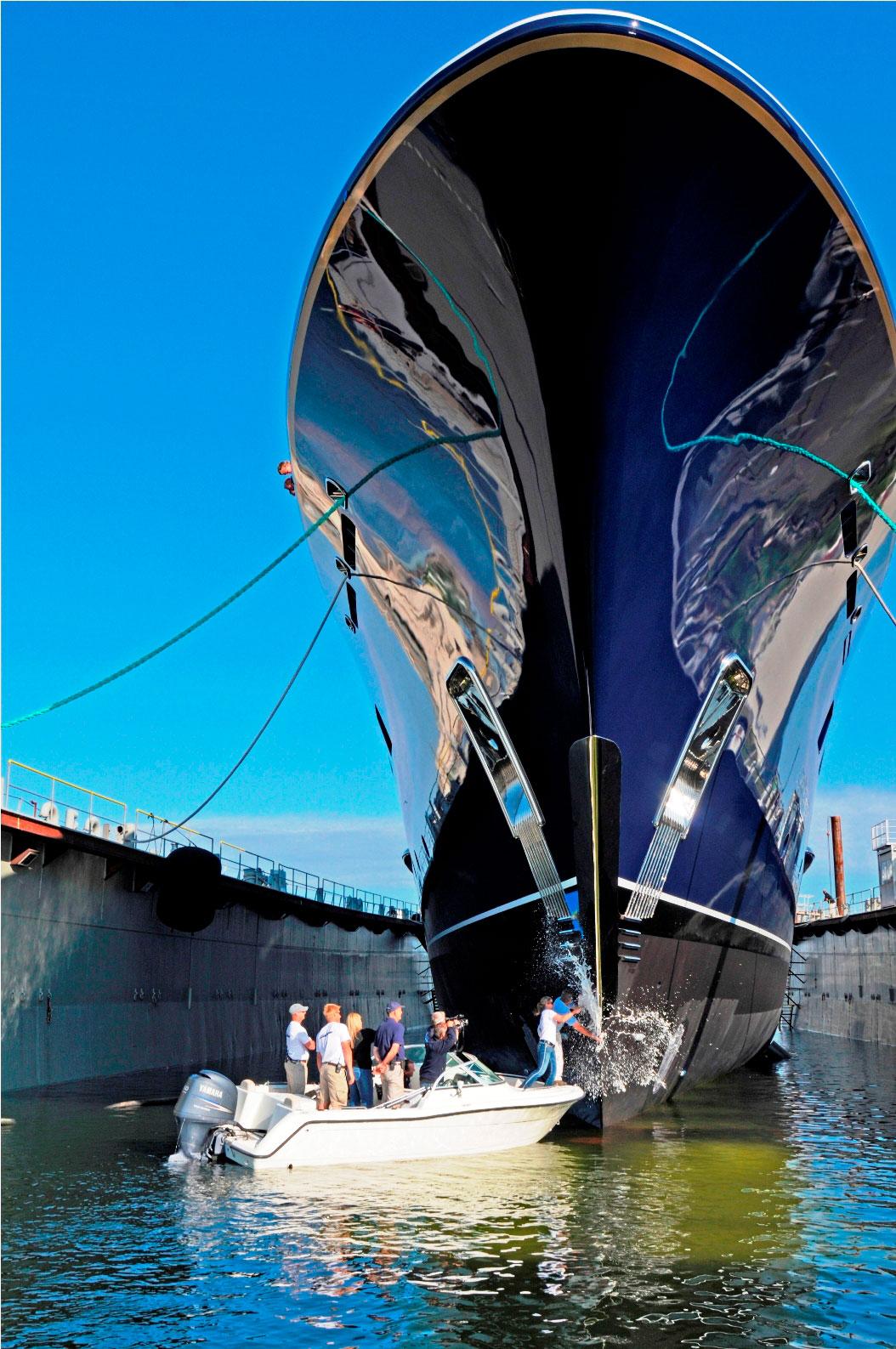 85m Superyacht Cakewalk by Derecktor - Launch Ceremony