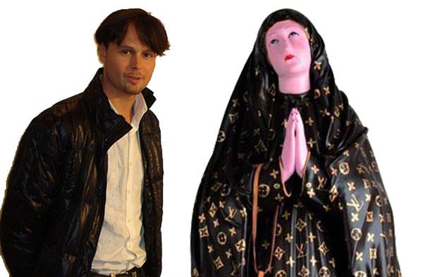 Francesco De Molfetta and Virgin Mary in Louis Vuitton