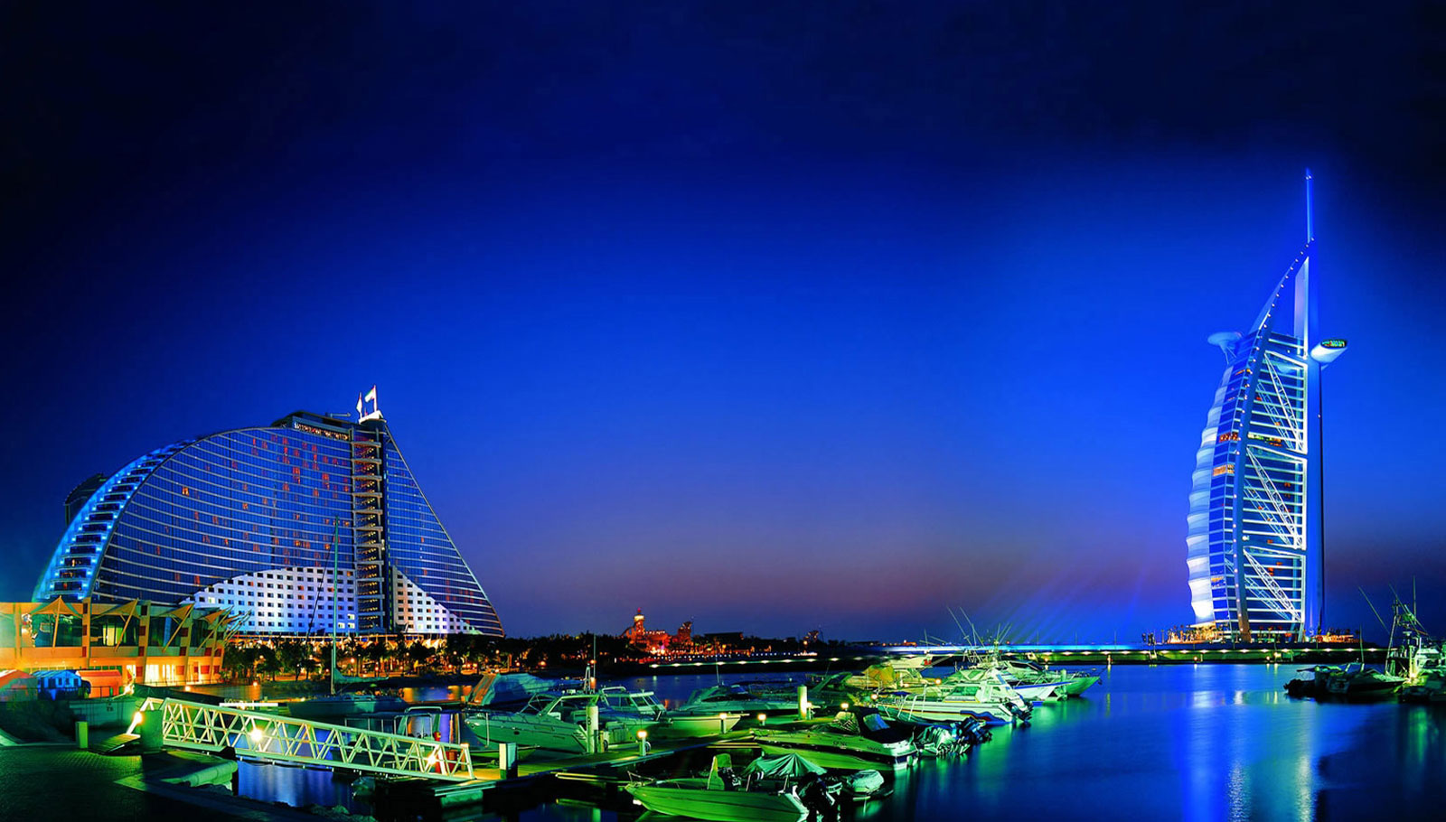 Jumeirah Beach Hotel and Burj Al Arab Hotel - Dubai