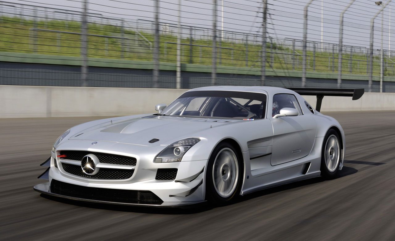 mercedes benz sls amg gt3 racing version of the gullwing. Black Bedroom Furniture Sets. Home Design Ideas