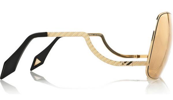 Victoria Beckham 18-karat Rose Gold-coated Sunglasses