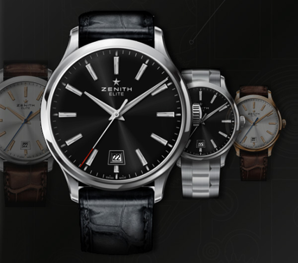 Stylish and Classic – Zenith Elite Captain Central Second Watch Collection