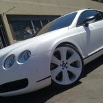 Dartz Covers Bentley Continental GT in White SnakeSkin