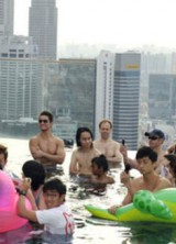 With Katy Perry in Infinity Pool at Marina Bay Sands SkyPark