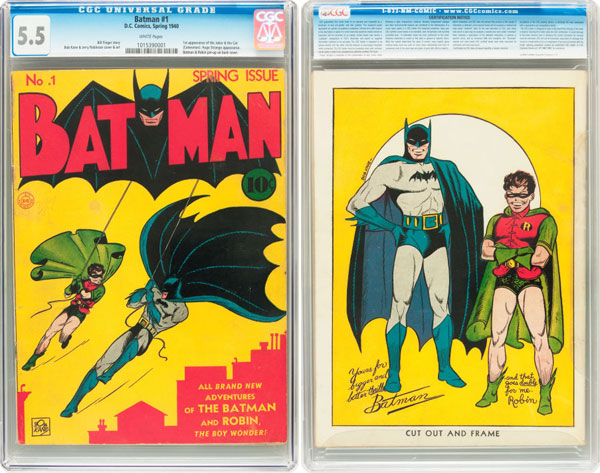 Rare Copy of Batman No. 1, Published 70 Years Ago, Goes Up for Auction
