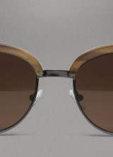 Bottega Veneta Horn Evergreen Sunglasses