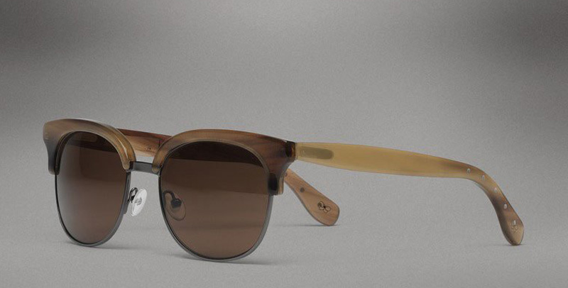 Bottega Veneta Horn Evergreen Sunglasses