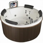 ECO-DE ECO-F-232 Whirlpool Spa Hydromassage Bathtub with Built-in 15-inch LCD TV