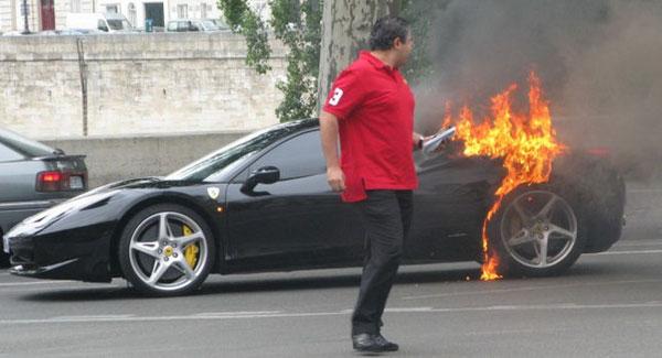 Ferrari 458 Italia in Fire