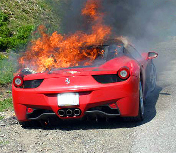 Ferrari 458 Italia In Fire
