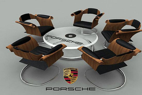 Jordan Ridgley's Porsche Seating Area – Perfect Furniture for Motoring Enthusiast