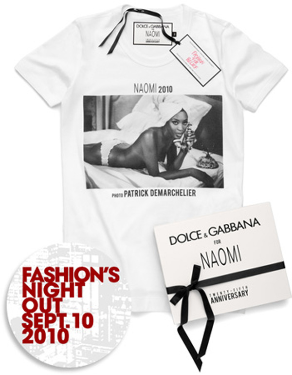 Limited Edition Dolce & Gabbana Naomi Campbell T-Shirt Collection