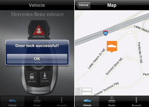 Mercedes-Benz Mbrace iPhone Application 2.0 Introduces Mobile Concierge Service