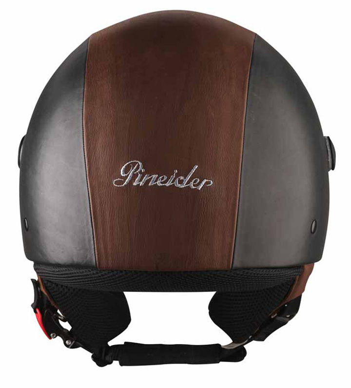 Pineider-Black-and-Brown-Leather-Helmet-1