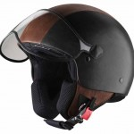 Stay Protected in Style with Pineider Black and Brown Leather Helmet