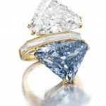 Rare BVLGARI Blue Diamond – Two-stone Diamond Ring  go Under the Hammer