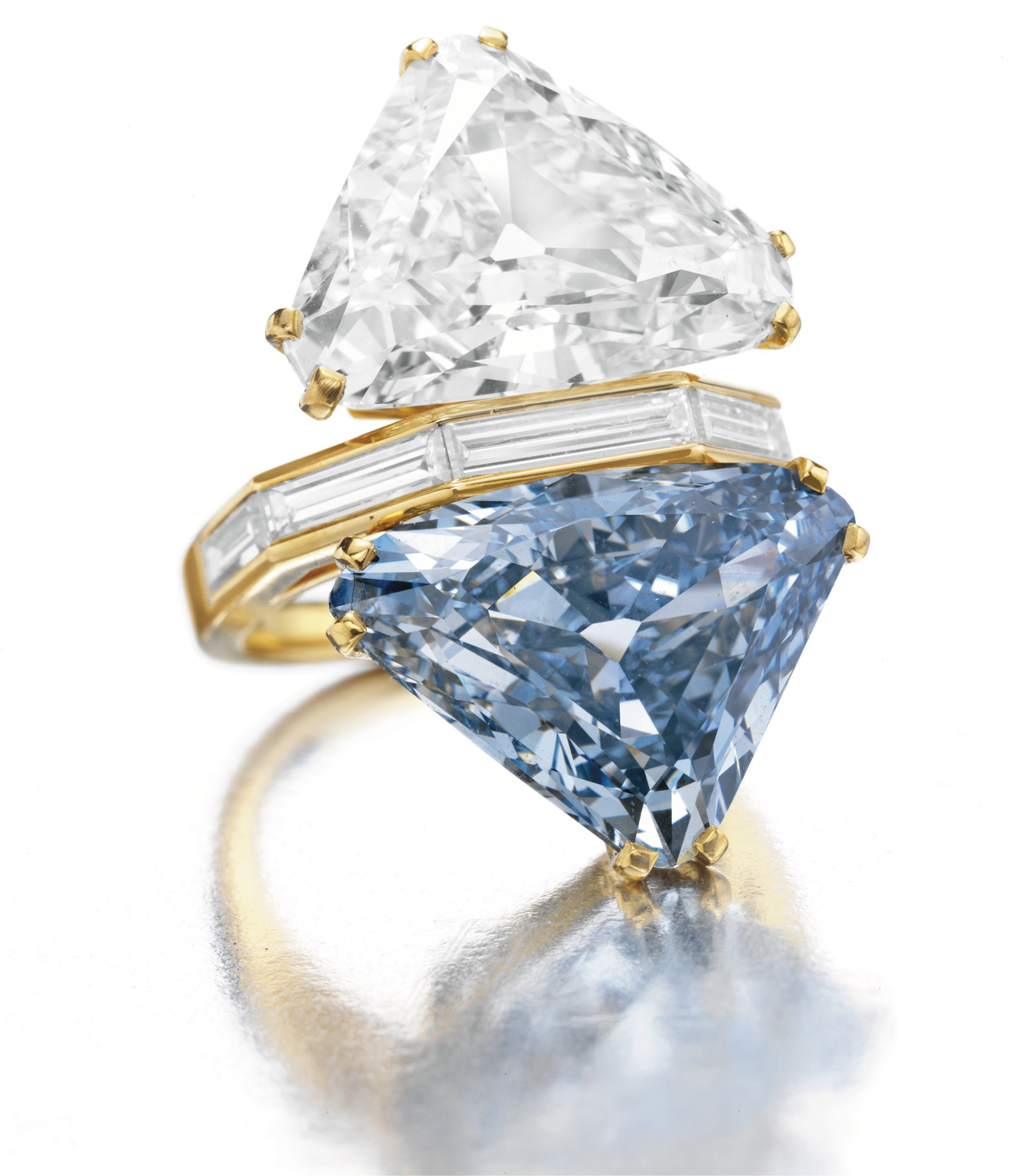 The BVLGARI Blue Diamond - Two-stone Diamond Ring