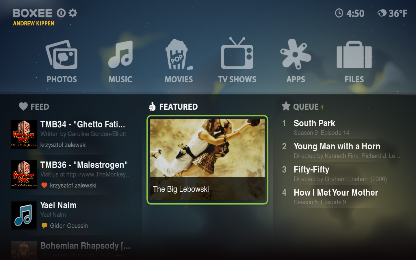 D-Link's Boxee Box Remote Screenshot