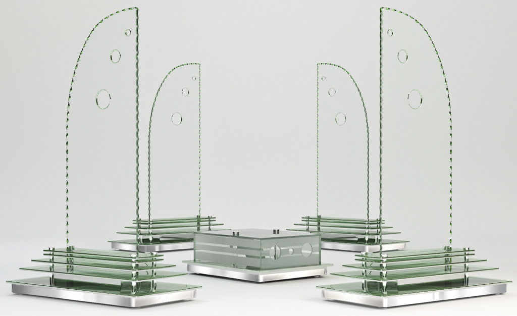 Greensound Technology Glass Speakers - Sempre Speaker Set
