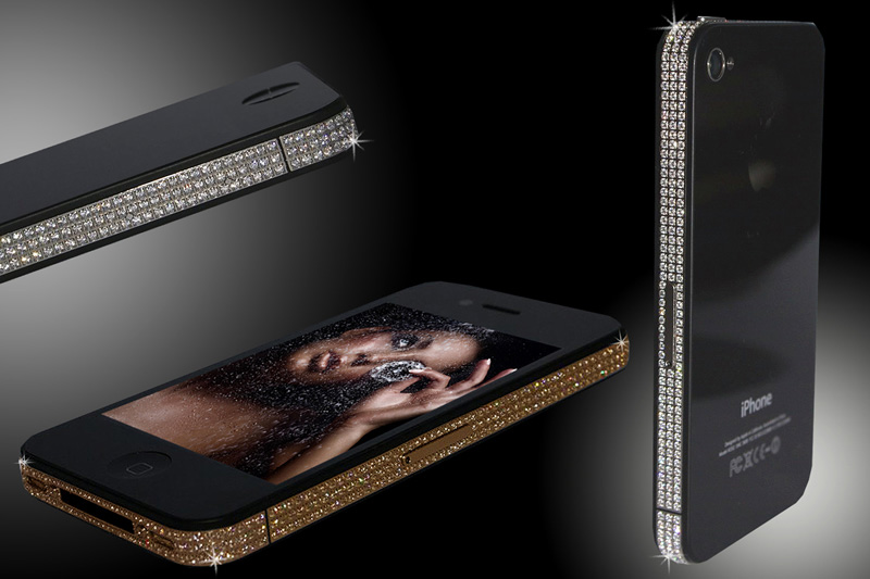 iPhone 4 Swarovski Gold &amp; Platinum Edition