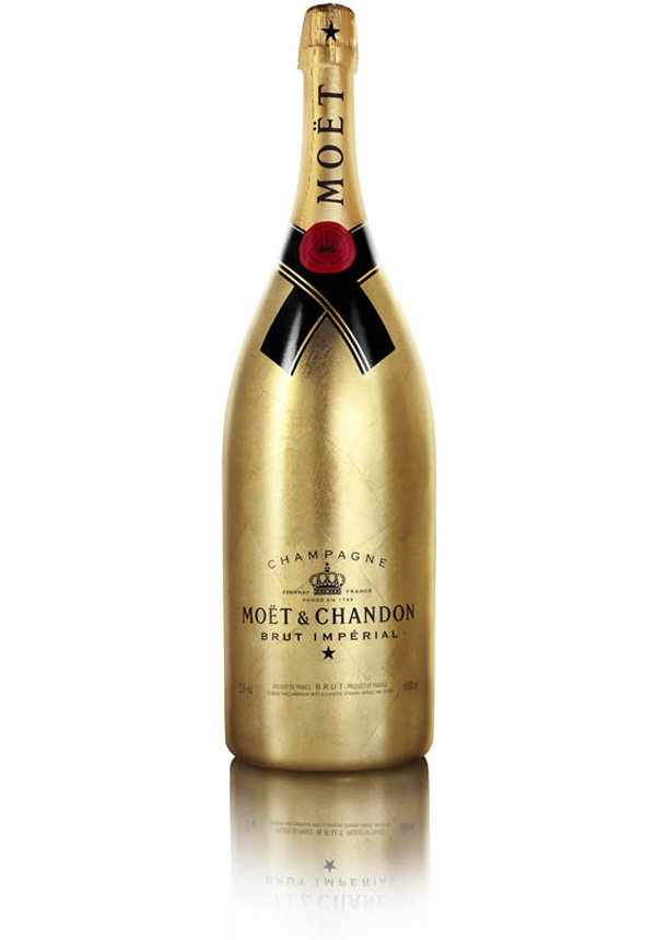 Limited Edition Moet &amp; Chandons Golden Jeroboam Champagne