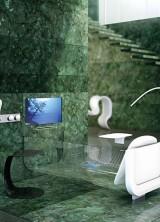 Allos Bathtub – Clear Glass Bathtubs by Glass Idromassaggio