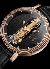Corum Round Golden Bridge Watch Re-issued in 18k Red Gold Case