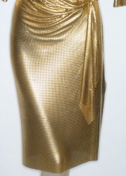 Gianni Versace Metal Mesh Gold Tone Oroton Dress Make a Woman Look and Feel More then Fabulous