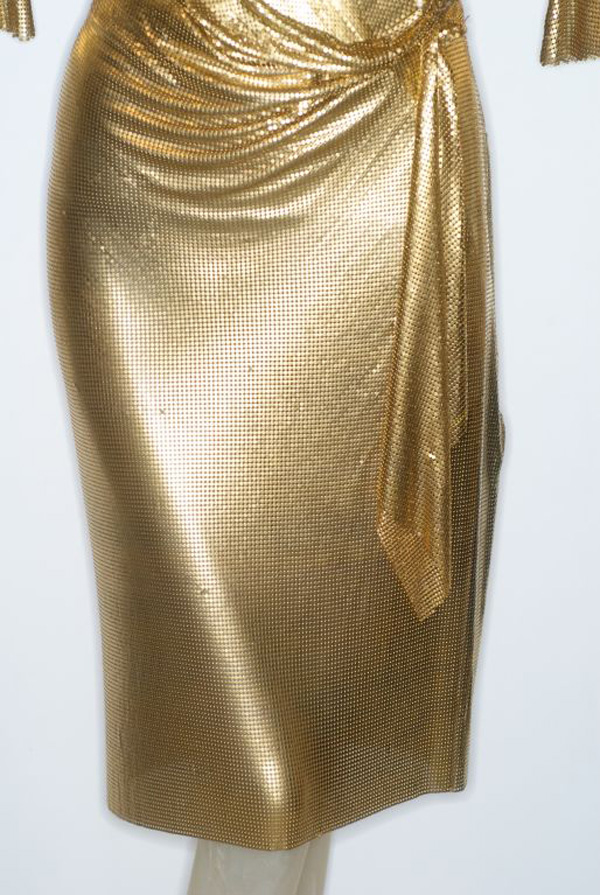 Gianni-Versace-Gold-Draped-Metal-Mesh-Dress-4---Copy