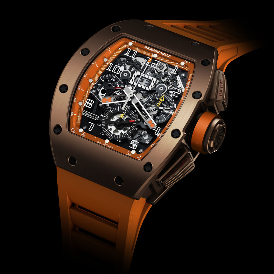 Limited Edition Richard Mille RM011 Titanium USA Brown Watch