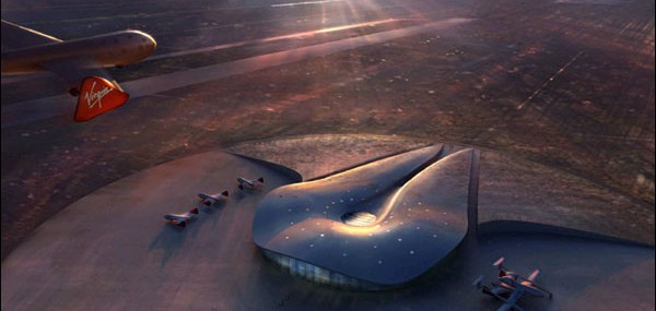 Virgin Galactic's VSS Enterprise Land on Spaceport America