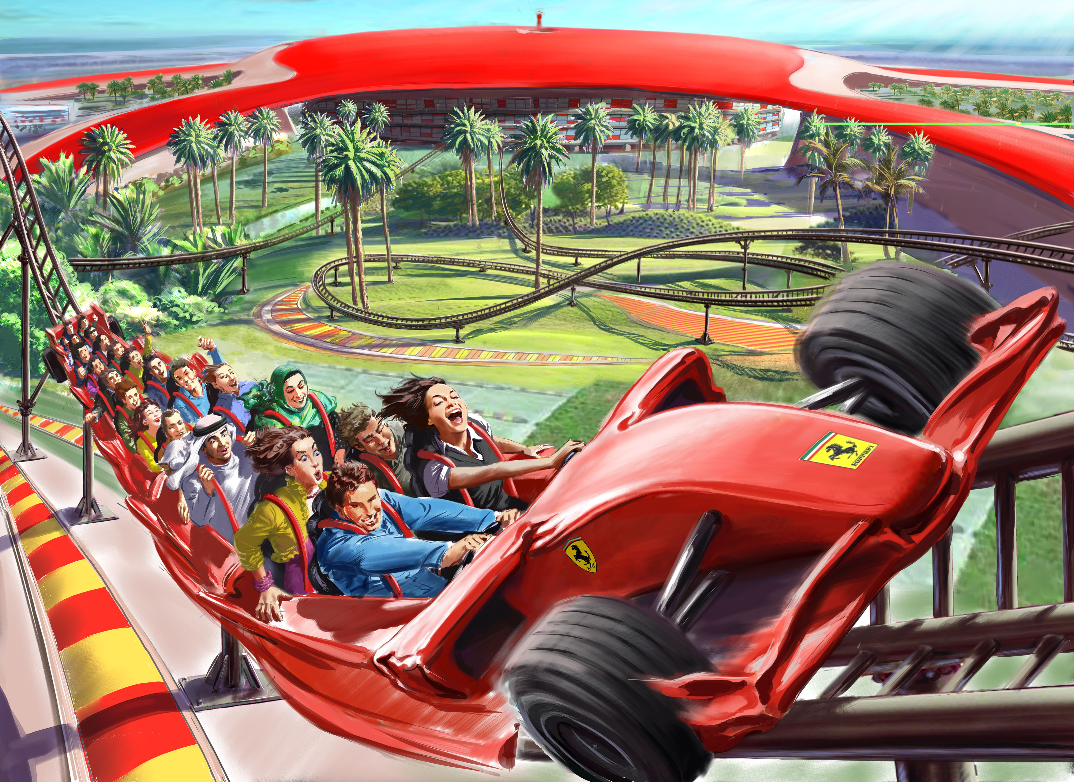 ferrari world abu dhabi world s largest indoor theme park opens up. Cars Review. Best American Auto & Cars Review