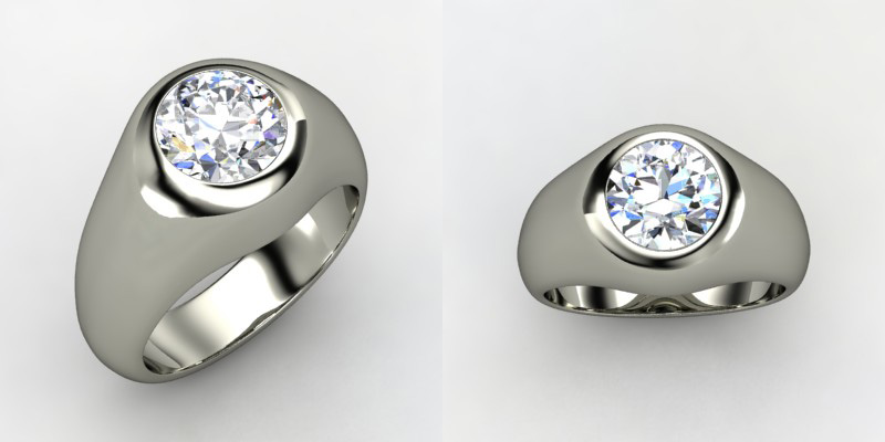Displaying (20) Gallery Images For Mens Custom Diamond Rings...
