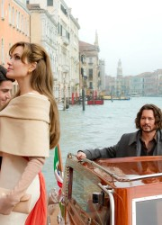 "Angelina Jolie and Johnny Depp on the Set of ""The Tourist"" Movie in Venice"