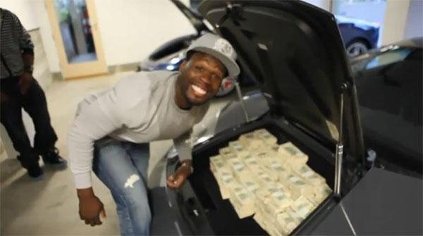 50 Cent Puts $2 Million Cash In A Lamborghini Murcielago