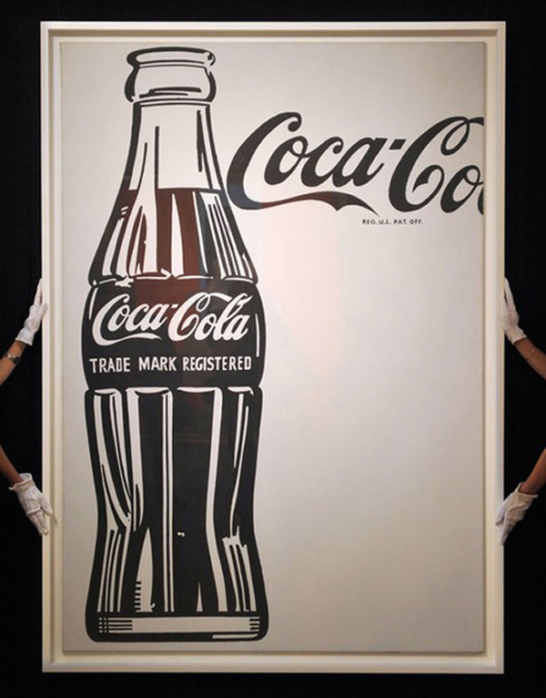 Andy Warhols Coca-Cola (4) (Large Coca-Cola) Painting Sells for $35.4 Million at Sothebys