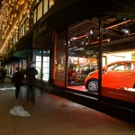 Aston Martin Cygnet Debut in Harrods Window