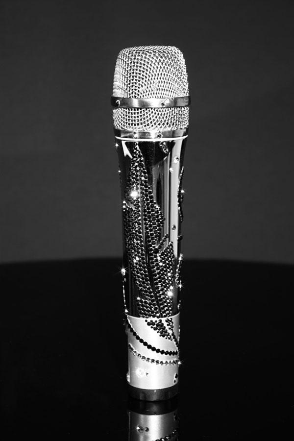 CrystalRoc Swarovski-studded Sennheiser G2 935 Microphone for Nadine Coyle