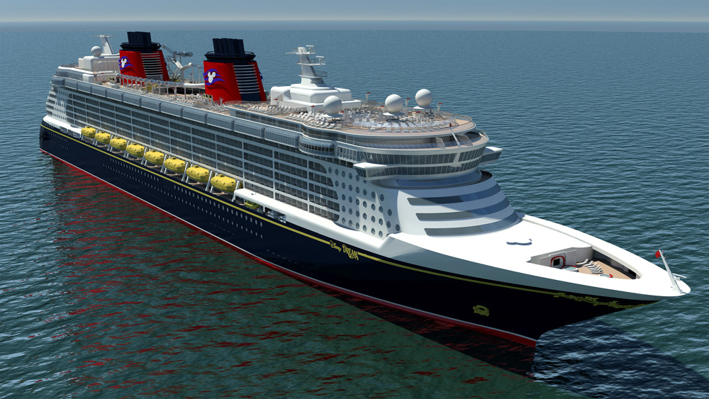 Disney Dream Cruise Liner Floats Out of Shipyard