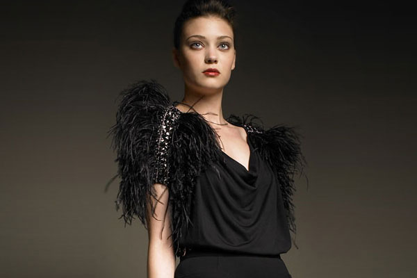 Emilio Pucci Knit Top With Feathers