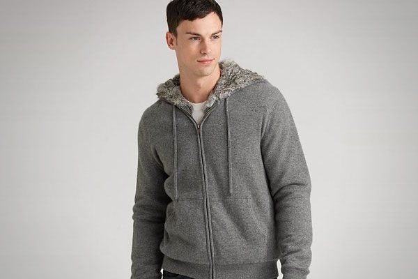 Michael Kors Cashmere Fur-Lined Hoodie
