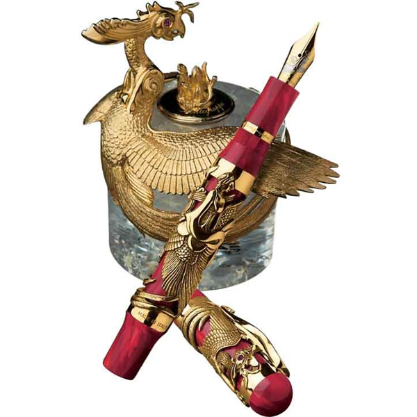 Limited Edition Montegrappa Eternal Bird Yellow Gold Ink Bottle