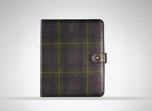 Ralph Lauren Tartan Leather iPad Case